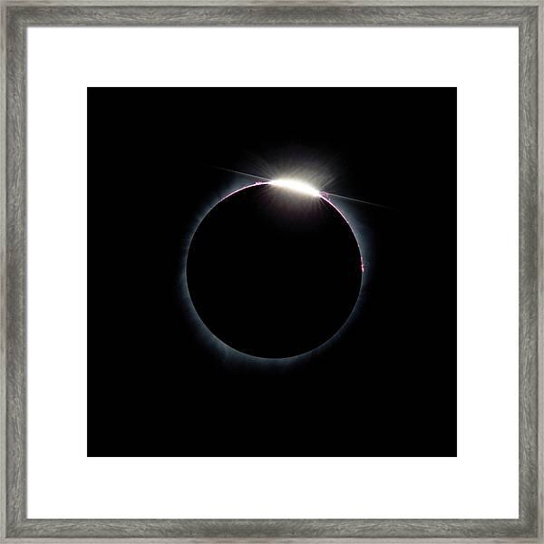 Post Diamond Ring Effect Framed Print