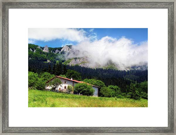 Postcard From Basque Country Framed Print