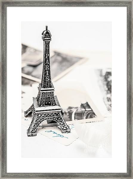 Postcards And Letters From Paris Framed Print