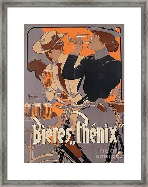 Poster Advertising Phenix Beer Framed Print