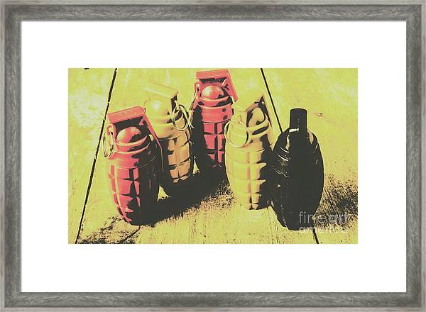 Posterized Granade Art Framed Print
