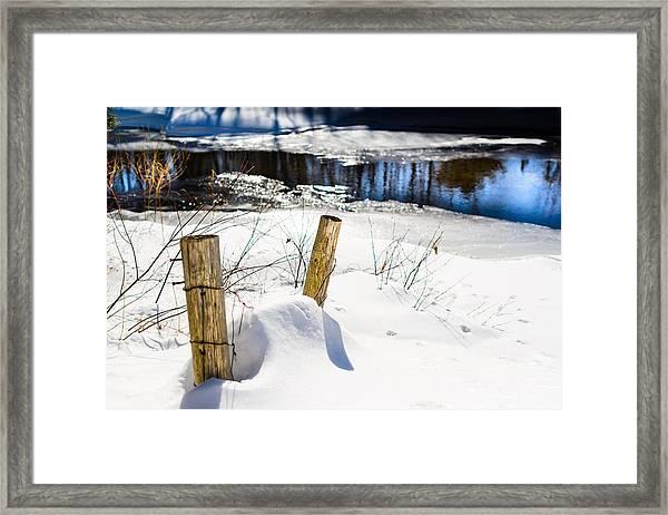 Posts In Winter Framed Print