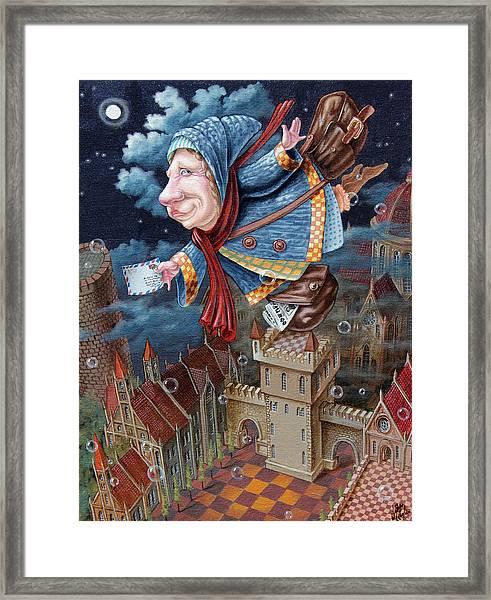 Postwoman Framed Print