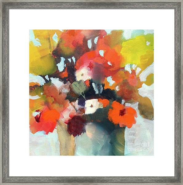 Pot Of Flowers Framed Print
