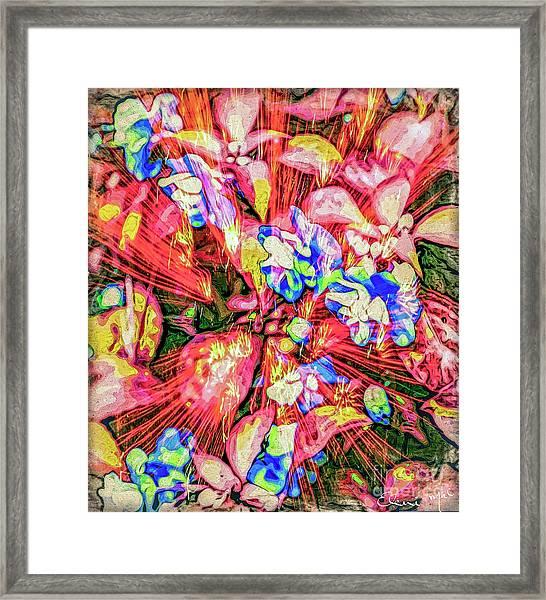 Framed Print featuring the digital art Pot Pourri by Eleni Mac Synodinos