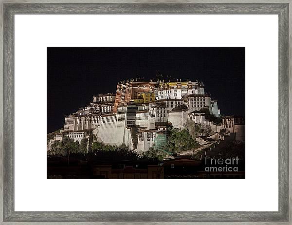 Potala Palace At Night Framed Print