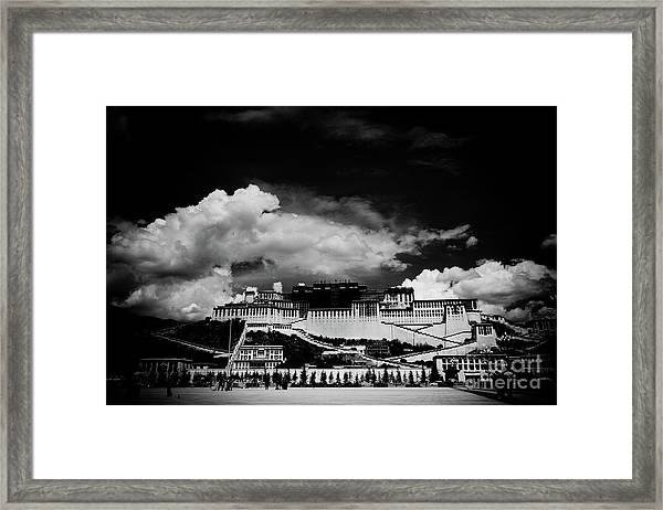 Potala Palace Bw. Lhasa, Tibet. Yantra.lv Framed Print