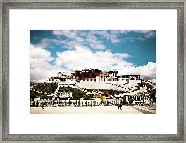 Potala Palace Dalai Lama Home Place In Tibet Kailash Yantra.lv 2016  Framed Print