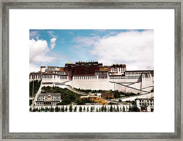 Potala Palace Dalai Lama Home Place. Tibet Kailash Yantra.lv 2016  Framed Print