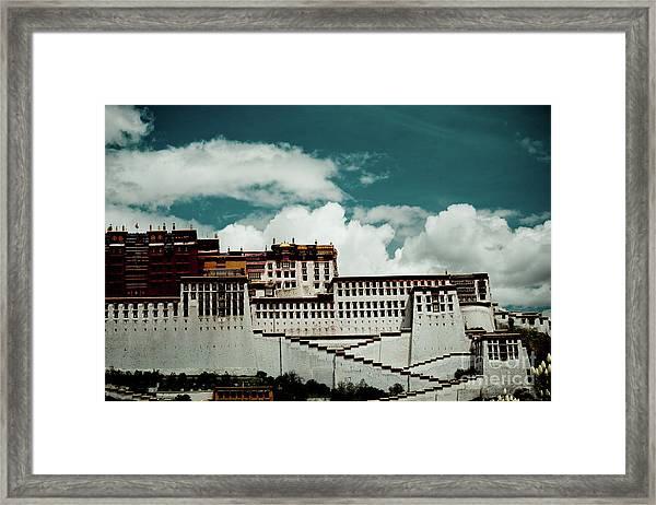 Potala Palace, Fragment. Lhasa, Tibet. Yantra.lv Framed Print