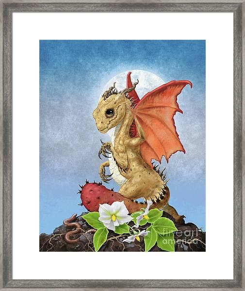 Potato Dragon Framed Print