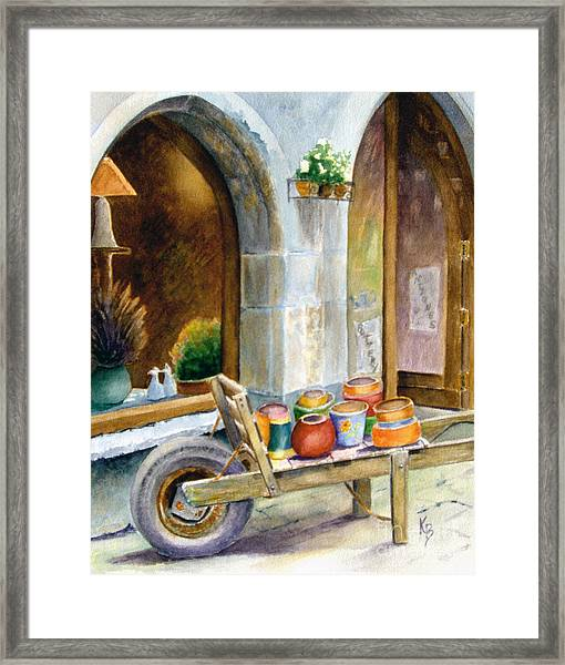 Pottery Cart Framed Print