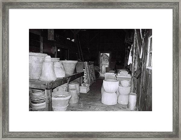 Potting Barn Of Maine Framed Print