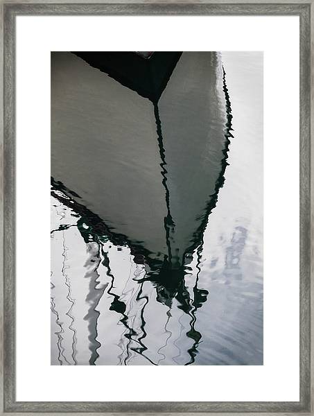 Poulsbo Boat Abstract Framed Print