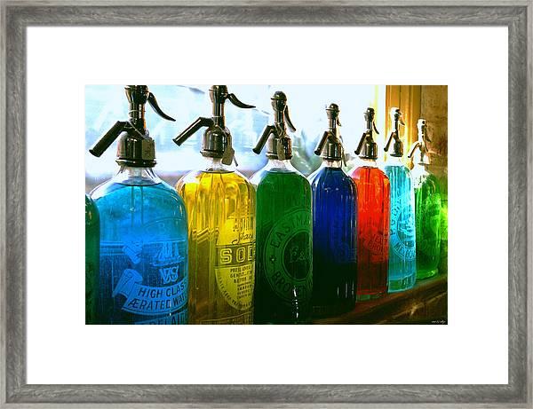 Pour Me A Rainbow Framed Print