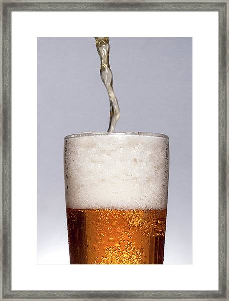 Pouring Beer Framed Print