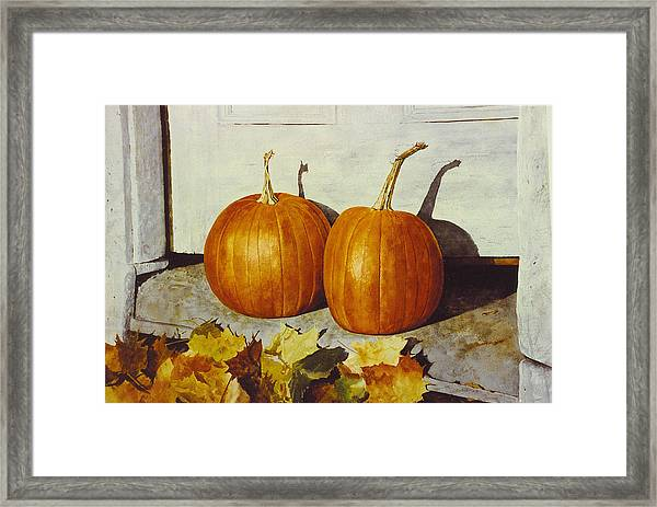Povec's Pumpkins Framed Print