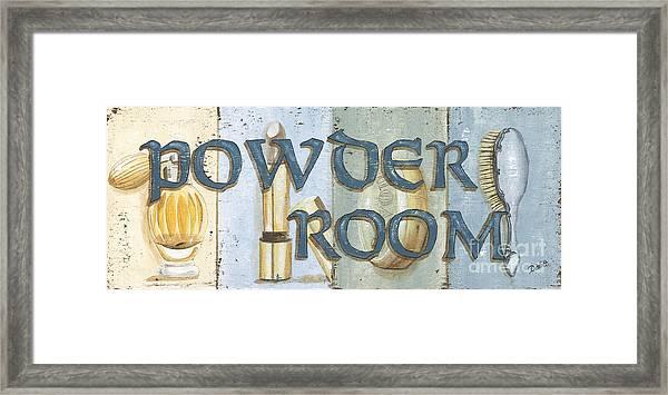 Powder Room Framed Print