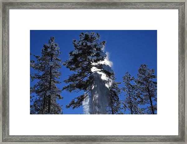 Powderfall Framed Print
