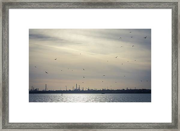 Power By The Sea Framed Print