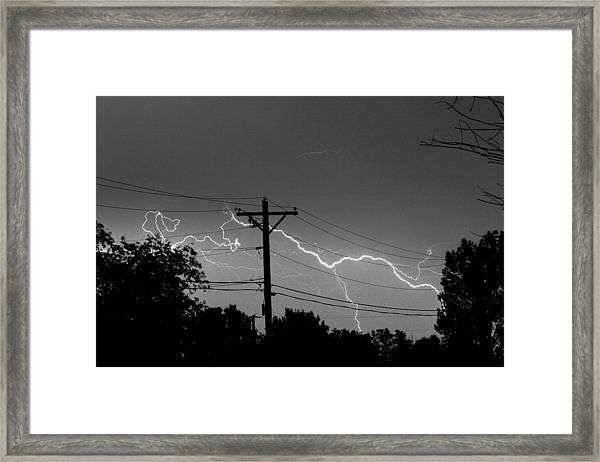 Power Lines Bw Fine Art Photo Print Framed Print