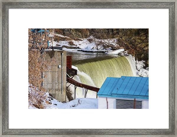 Power Station Falls On Black River Two Framed Print