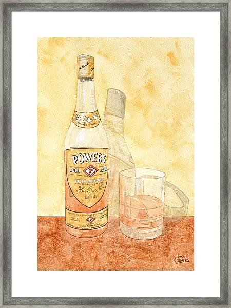 Powers Irish Whiskey Framed Print