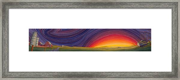 Framed Print featuring the painting Powhatten II by Scott Kirby