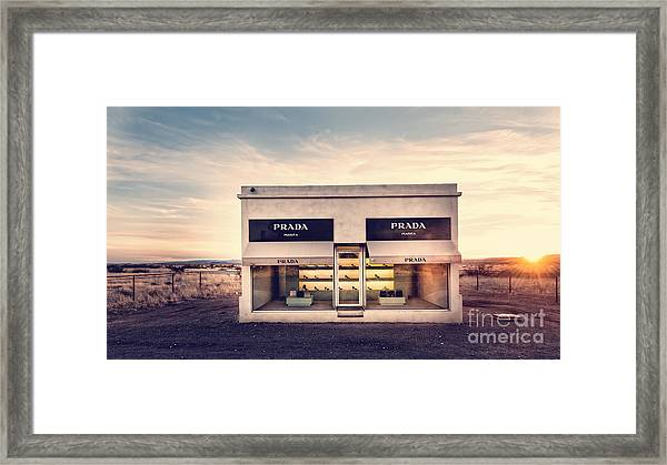 Framed Print featuring the photograph Prada Store by Prada