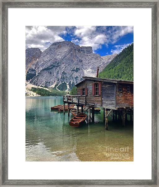 Pragser Wildsee View Framed Print
