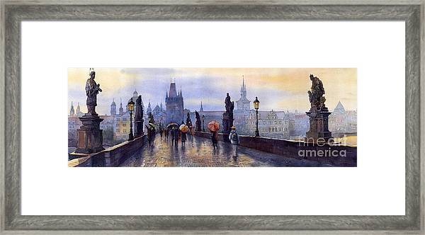 Prague Charles Bridge Framed Print