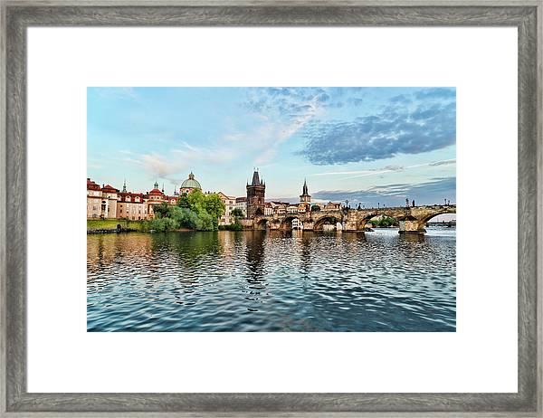 Prague From The River Framed Print