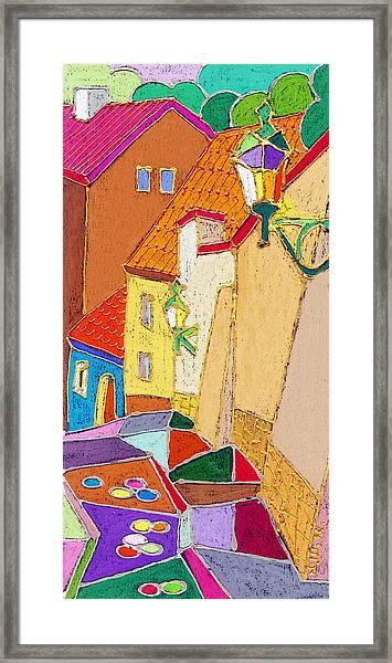 Prague Old Street Ceminska Novy Svet Framed Print