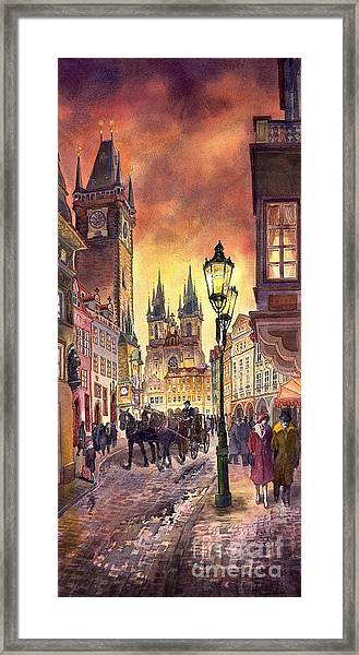 Prague Old Town Squere Framed Print