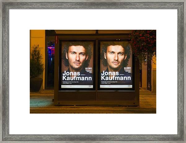 Praha Bus Station Framed Print