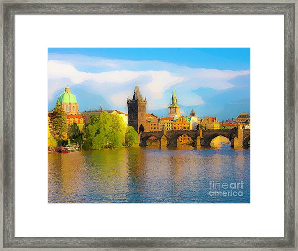 Praha - Prague - Illusions Framed Print