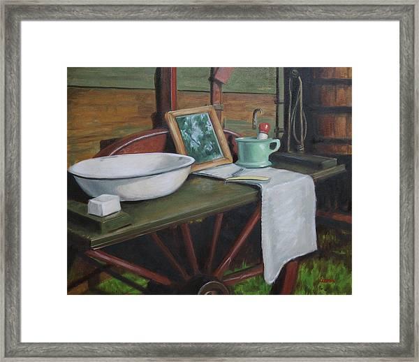 Prairie Ablutions Framed Print