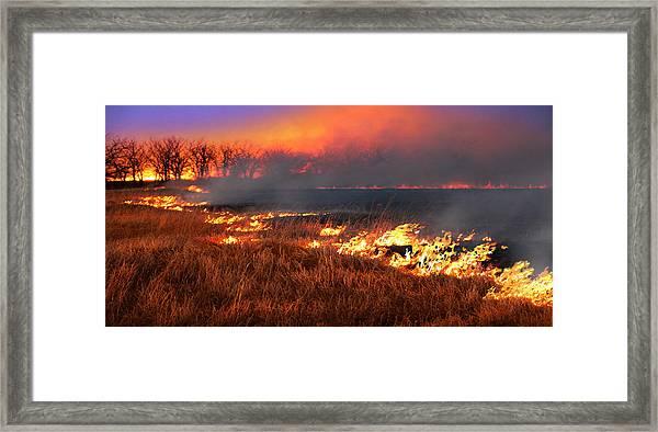 Prairie Burn Framed Print
