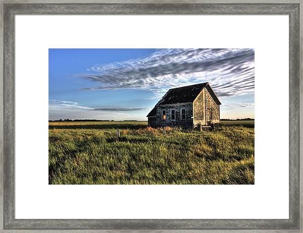 Prairie One Room School Framed Print