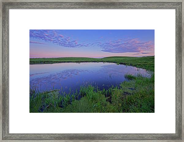 Prairie Reflections Framed Print