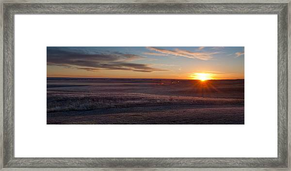 Prairie Sunset Framed Print