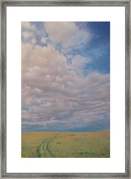 Prairie Trail Framed Print