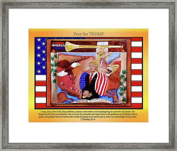 Pray For President Trump Framed Print