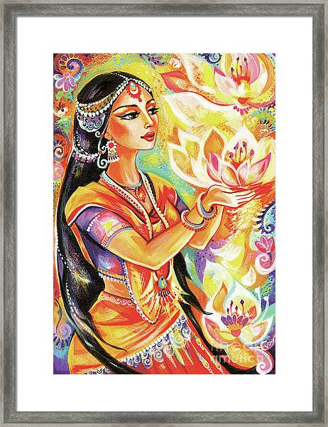 Pray Of The Lotus River Framed Print
