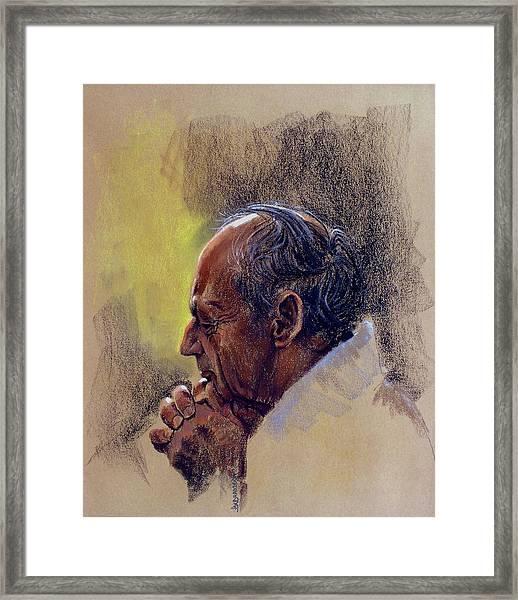 Prayer. Hope In God Framed Print