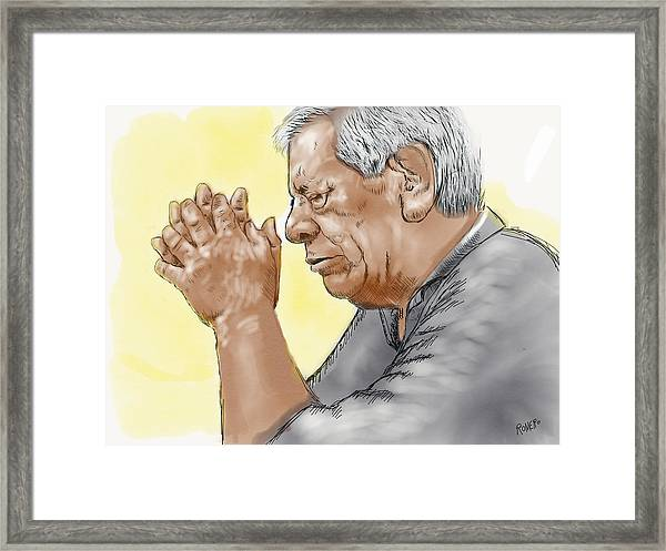 Prayer Of A Righteous Man Framed Print