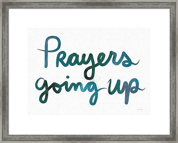 Prayers Going Up- Art By Linda Woods Framed Print