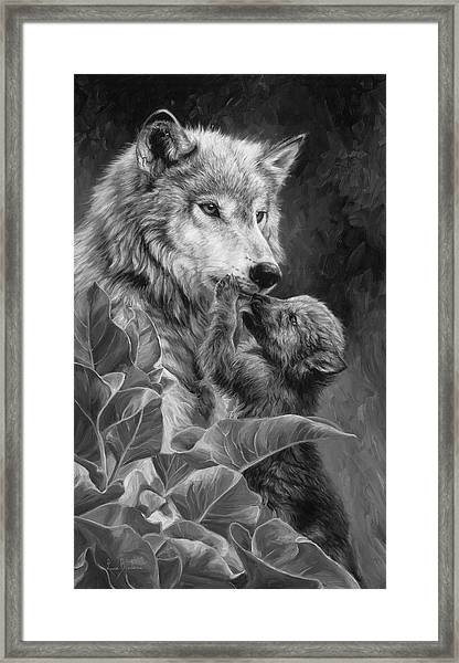Precious Moment - Black And White Framed Print