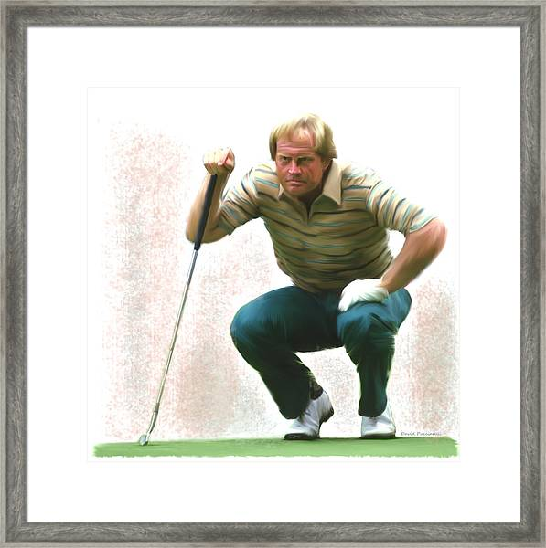 Precision Jack Nicklaus  Framed Print