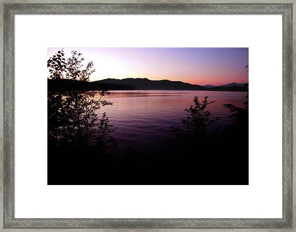 Preist Lake Sleeping Framed Print